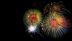 Beautiful firework. Show for celebration stock photo