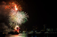 Beautiful firework. Show for celebration royalty free stock images