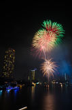 Beautiful firework showing on night sky Royalty Free Stock Photo