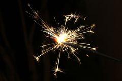 Beautiful firework sparks Royalty Free Stock Photos