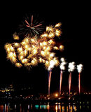 Beautiful Firework. Of Year 2014 Stock Photo