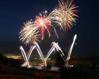Beautiful fireworks Stock Photos
