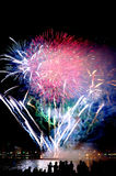 Beautiful fireworks Stock Image