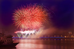 Beautiful fireworks Stock Photo