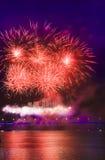 Beautiful fireworks Stock Photography