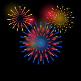 Beautiful Fireworks Royalty Free Stock Images