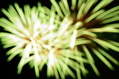 Beautiful fireworks blur background isolate on black background Stock Images