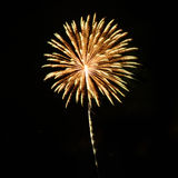 Beautiful fireworks in celebrate day isolate on black background Royalty Free Stock Images