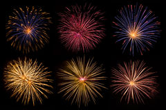 Beautiful fireworks collection Royalty Free Stock Image