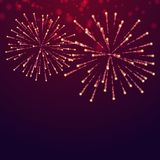 Beautiful fireworks display. Vector design Royalty Free Stock Photo