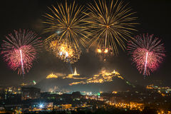 A beautiful fireworks display for celebrations. Stock Photos