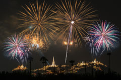A beautiful fireworks display for celebrations. Royalty Free Stock Images