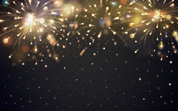 Beautiful fireworks elements Stock Photos
