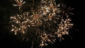 Beautiful Fireworks Exploding On Black Background stock video