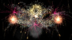 2016_beautiful fireworks explosion stock video footage