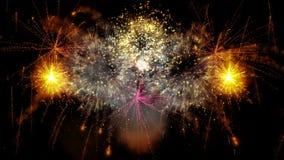 2016_beautiful fireworks explosion stock footage