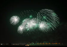 Beautiful Fireworks at F1 Circuit Bahrain Stock Photography
