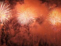 Beautiful fireworks III Royalty Free Stock Photos