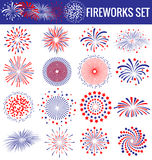 Beautiful Fireworks for Independence Day USA Stock Image