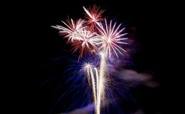 Beautiful fireworks Stock Photography