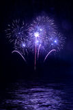 Beautiful fireworks in the night sky Stock Image