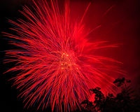Beautiful fireworks at night Royalty Free Stock Photos