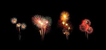 Beautiful fireworks over sky Stock Photos
