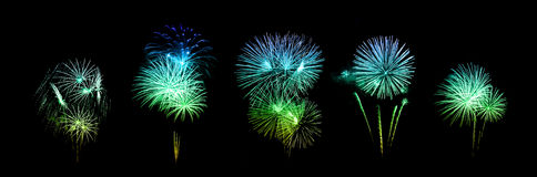 Beautiful fireworks over sky Stock Images