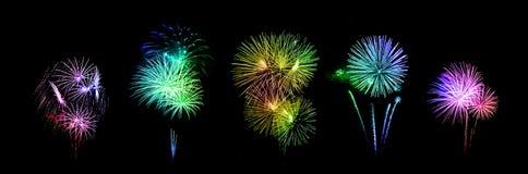 Beautiful fireworks over sky Royalty Free Stock Photos
