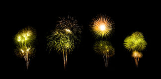 Beautiful fireworks over sky Royalty Free Stock Photo