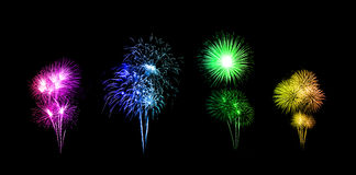 Beautiful fireworks over sky Stock Photo