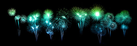 Beautiful fireworks over sky Royalty Free Stock Photography