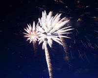 Beautiful fireworks show Stock Image