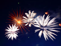 Beautiful fireworks show Stock Image