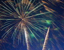 Beautiful fireworks show Royalty Free Stock Photo