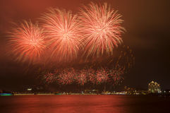 Beautiful Fireworks in The Sky Royalty Free Stock Images