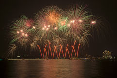 Beautiful Fireworks in The Sky Royalty Free Stock Photos