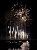 Beautiful fireworks in Venice, Italy Royalty Free Stock Images
