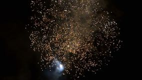 Beautiful fireworks video in celebration day, loop stock video footage