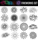 Beautiful Fireworks on white background for celebration party Royalty Free Stock Photo