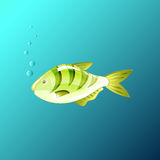 A Beautiful fish under the water in the game style. Beautiful fish under the water in the game style Stock Photo