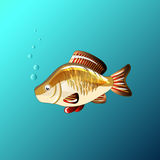 A Beautiful fish under the water in the game style. Beautiful fish under the water in the game style Stock Photos