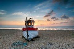Beautiful Fishing Boat at Sunrise Stock Image