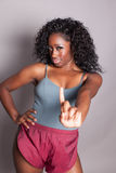 Beautiful fit African American woman Stock Images