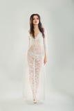 Beautiful Fit Girl wearing Dress Negligee. Beautiful Fit Girl wearing White Dress Negligee Stock Photo
