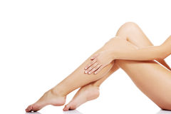 Beautiful fit long female legs Royalty Free Stock Photos