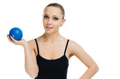 Beautiful fit red girl working out Stock Photography