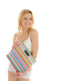 Beautiful Fit Slim Woman Body With Weights. Stock Photography