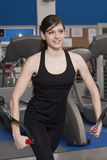 Beautiful fit woman at the gym smiling Royalty Free Stock Images
