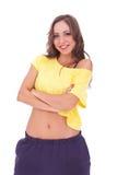 Beautiful fit woman smiling Stock Image